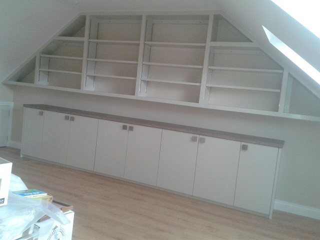 Bespoke bookcase and cupboards